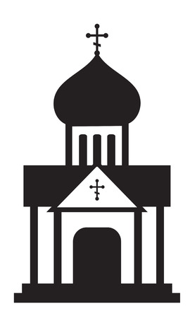 Silhouette of orthodox domes. Christian church, temple. Infographic, icon. Vector clip art. 일러스트