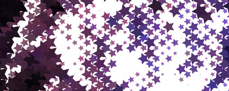 Abstract background with stars. Horizontal banner, texture, flyer, layout, postcard. Vector clip art.