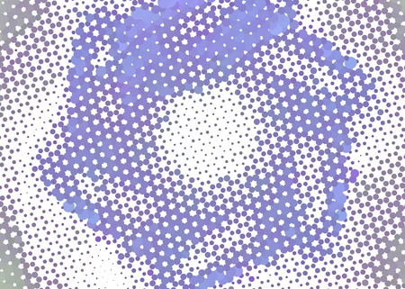 Abstract background. Spotted halftone effect. Dots, circles. Vector clip art