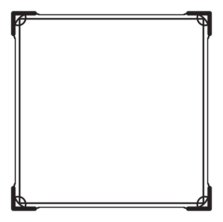 Black and white square frame. Copy space. Design element for your artwork. Vector clip art. Illustration