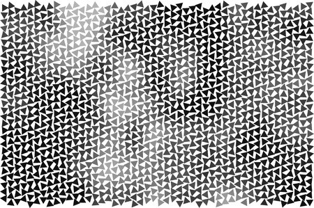Abstract vector background with halftone triangles.