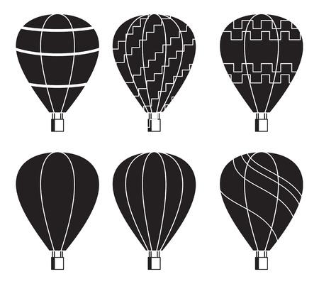 Air balloon flying Ilustração Vetorial