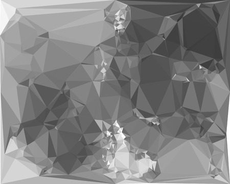 Black and white abstract background with low polygonal mosaic texture