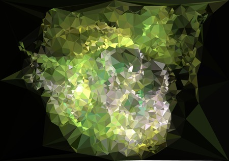 Modern abstract background in popular triangular style