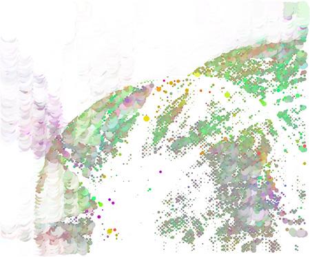Trendy halftone dots background. Abstract digital art Фото со стока - 122089083