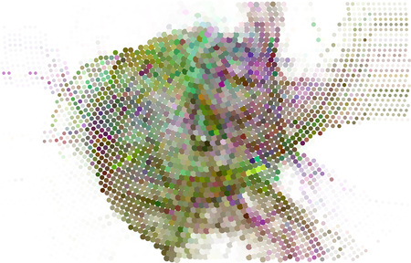 Trendy halftone dots background. Abstract digital art