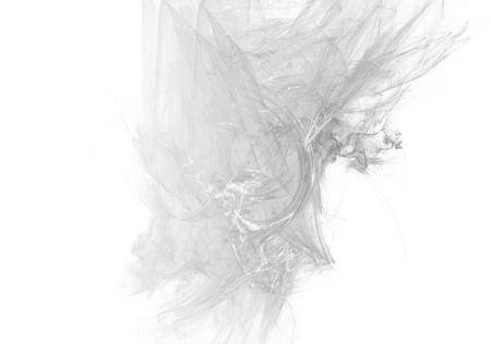 Grayscale abstract fractal background. Faded page side. 版權商用圖片 - 122565535