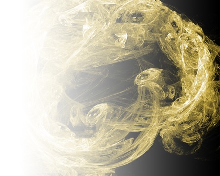 Yellow abstract fractal background. Faded page side. Imagens - 122697326