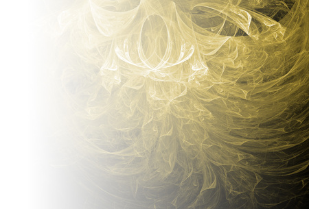 Yellow abstract fractal background. Faded page side. Imagens - 122698034