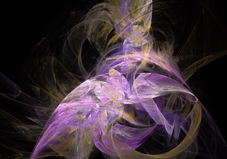 Abstract fractal background. Digital collage.