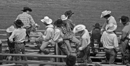 plains: Northern Plains Wyoming Cody Rodeo Stock Photo