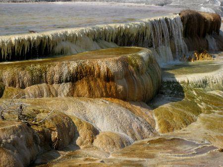 Northern Plains Wyoming Yellowstone Mammoth Hot Springs photo