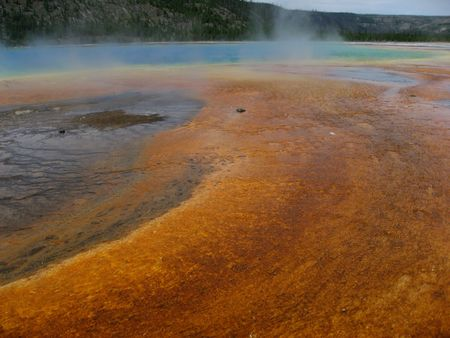 Northern Plains Wyoming Yellowstone Grand Prismatic Spring photo