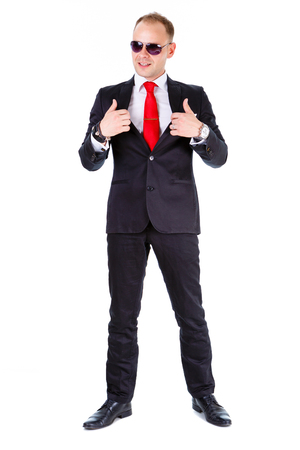 Red Tie Black Suit Stock Photos. Royalty Free Red Tie Black Suit ...