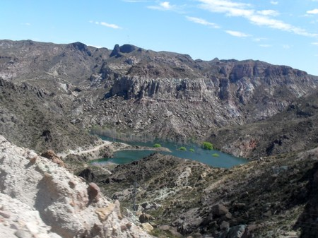 san rafael: El Nihuil Dam on San Rafael Valley