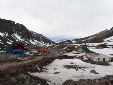 little town: Little town on Andes mountain range Stock Photo