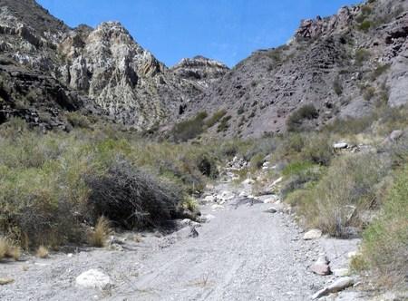 san rafael: Road on dry river