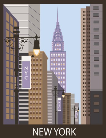 New York city street. Vector photo