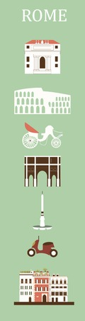 simbols: Symbols of Rome. Vector Stock Photo