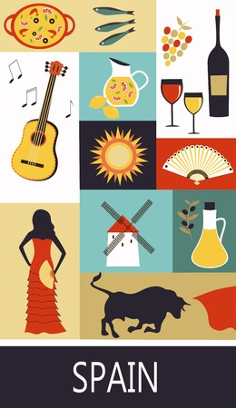 castilla: Symbols of  Spain. Vector