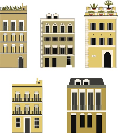 houses: Set of houses. Vector