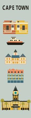 cape town: Symbols of Cape town. Vector