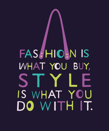 boutique display: Fashion Woman bag made from quote. Vector