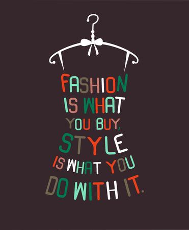 Female fashion  dress from words. Vector Reklamní fotografie