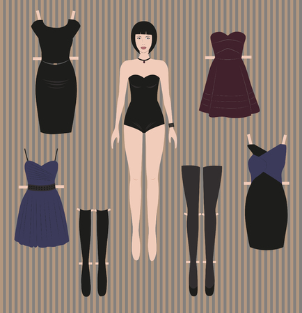 ready to cut: Dress up paper doll ready for cut and play
