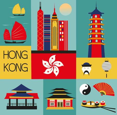 hongkong: Symbols of Hongkong.