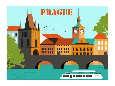 Prague.Charles Brücke, Tschechische Republik.