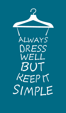 display type: Fashion woman dress made from quote.