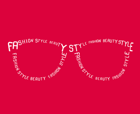 fashion sunglasses: Fashion Sunglasses from words. Vector