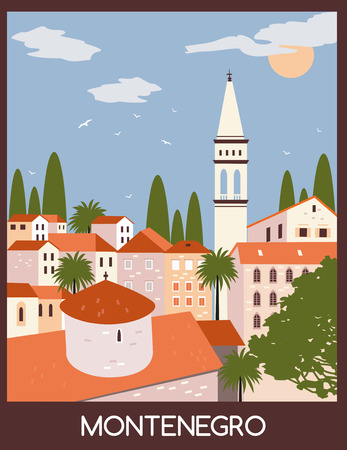 Old town in Budva city, Montenegro.