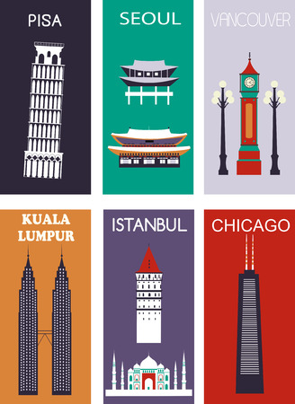Famous cities. Stock Photo