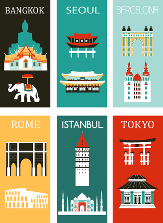 Set of Famous Cities