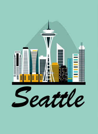 Seattle city travel background