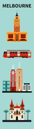 Melbourne city. Vector