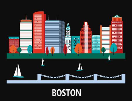 Boston city, Massachusetts, USA.
