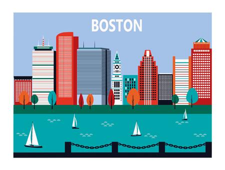 都市、マサチューセッツ、アメリカのボストン。