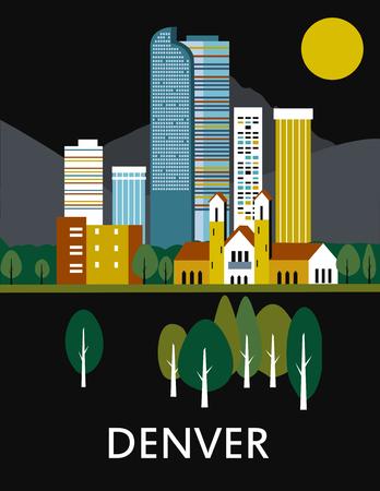 Denver stad in Colorado.