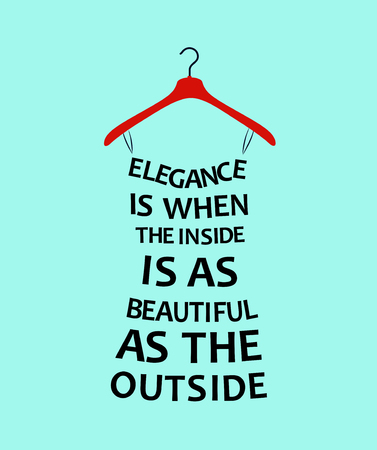 Fashion woman Dress from quote about elegance.