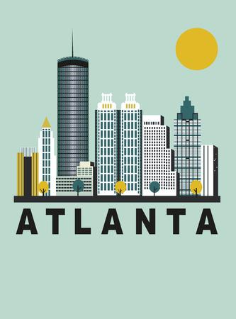 Atlanta city in Georgia USA in bright colors Stock Photo