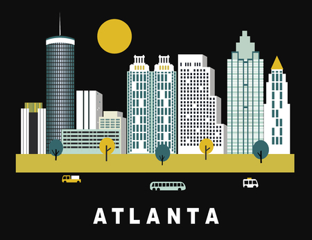 Atlanta city in Georgia USA in bright colors Zdjęcie Seryjne