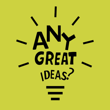 Light bulb from a quote about ideas