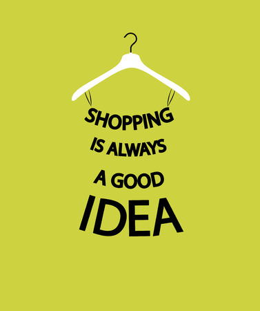 Fashion woman Dress from quote about shopping.