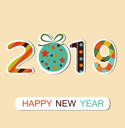 New Year 2019 background. Vector Zdjęcie Seryjne - 127645178