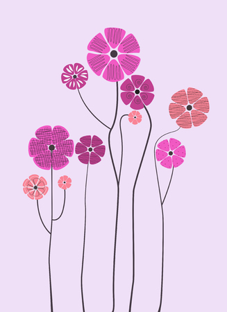 Background with flowers. Vector