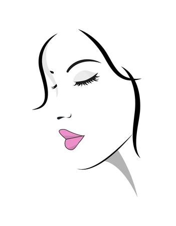 Beautiful stylish woman face