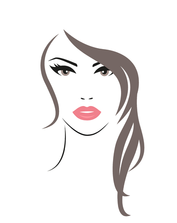 illustration of the Woman with long hair.